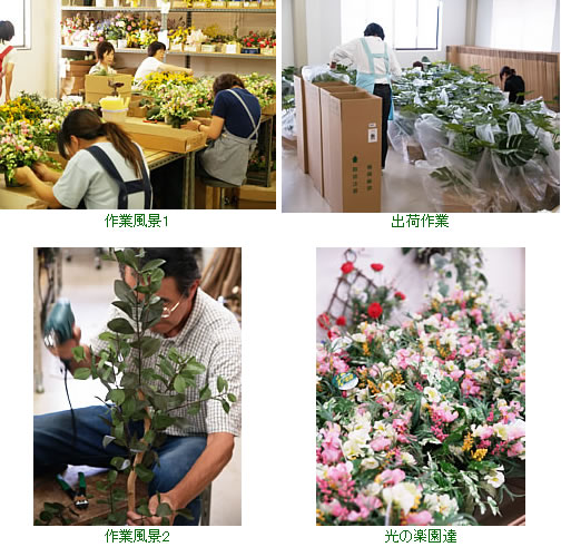 アートクリエイション「造花と人工観葉植物の専門店 光の楽園」製作風景